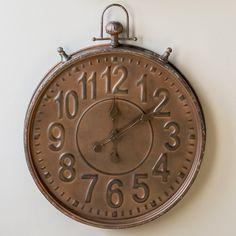 Large Wall Clock | Pocket Watch Wall Clock | Retro Vintage Style Wall Clocks