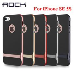 ROCK Luxury Royce Phone Case For iPhone SE 5S Ultra thin Armor PC + TPU Back Cover Shell Case For iPhone 5S SE 5 Case cover