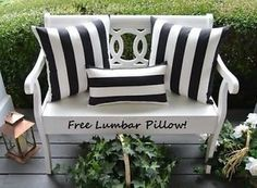 Set-Of-3-Black-White-Stripe-Free-Decorative-Zipper-Pillow-Covers-Indoor-Outdoor