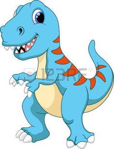 Cute Tyrannosaurus cartoon photo