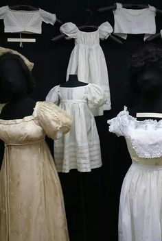 """Womens and infants gowns, Lacis Museum of Lace and Textile """"mommy and me"""" exhibit"""