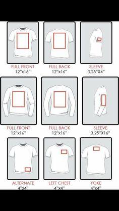 Shirt decal location