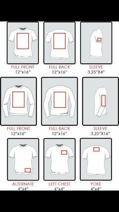 Chart Re Sizing Of Decals For Shirts Silhouette