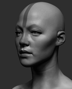 Speed sculpt in spare time. I used the same reference timelapse again. Reference by Vadim Sorici Head Anatomy, Human Body Anatomy, Female Head, Female Bodies, Female Face, 3d Face, Face Art, Anatomy Sculpture, Sculpting Tutorials