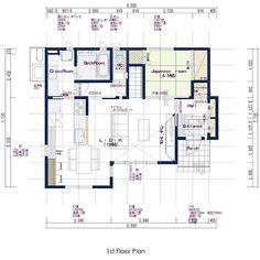 Villa Plan, Entrance, House Plans, Floor Plans, Notes, Flooring, How To Plan, Room, Arquitetura