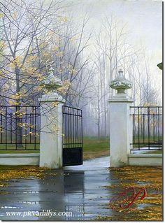 Autumn Gate 32 x 23 By Alexei Butirskiy. Fall, autumn, Fall foliage, beautiful Fall leaves