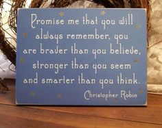 Wood Sign Promise me you will always remember Wall Decor Nursery