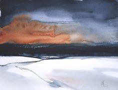 Watercolour Painting on 200lb Langton paper. Abstract Landscape. 38cms x 30 cms