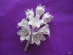 Handmade Silver Filigree Flowers.