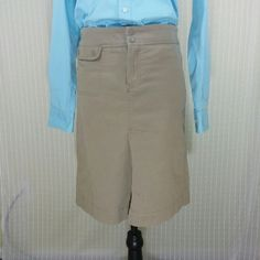 Lacoste -  Khaki Knee High Skirt Lacoste -  Khaki Knee High Skirt -  98% cotton / 2% Spandex - Size 36 (S) Faux Slit front - very form fitting. Gently worn Lacoste   Skirts Midi