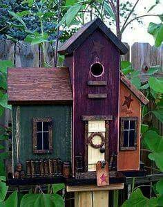 :) posh birdhouse. Maker and source unknown.