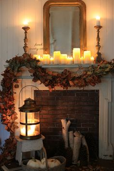 Simple Elegant  Autumn Mantel with Balsam Hill -  When it comes to autumn decor...    I am all about those soft and neutral colors and tones.        Until I am ready for a bit more warm and...