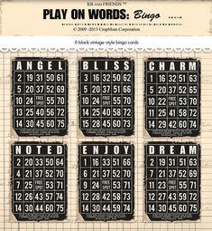 Bingo Cards To Print, Free Bingo Cards, Free Baby Shower Printables, Free Printables, Valentine Bingo, Collage Sheet, Journal Cards, Junk Journal, Making Greeting Cards