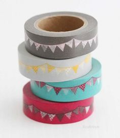 Garland Flags MASTÉ Japanese Washi Tape - NEW Maste Tape - Japanese Washi Tape   $2.50 for 10.94 yards  Light gray & yellow