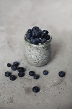 Blueberry yoghourt