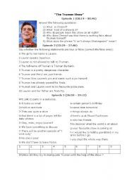 english worksheet the truman show english year 7 pinterest worksheets english and activities. Black Bedroom Furniture Sets. Home Design Ideas