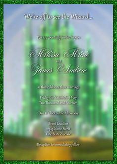 Wizard of OZ Emerald City Inspired Wedding by lunabstudio on Etsy