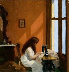 Edward Hopper, Girl at the sewing machine, 1921