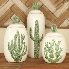 Cole & Grey 3-Piece Ceramic Jar Set