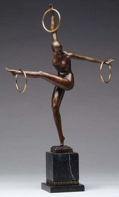 Dimitri Chiparus. Dance with Rings; the late 20th c.