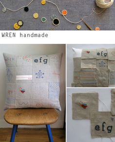 Wrenhandmade patchwork cushion - so beautiful