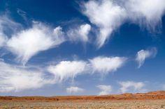 nuages avec virga