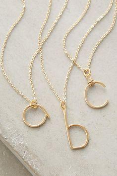 Monogram Swing Necklace - anthropologie.com