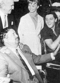 Photo: Elvis and Jackie Gleason - set of Girls, Girls, Girls Famous quotes:  Bing Crosby- He [Elvis] never contributed a damn thing to music.   But years later Bing said- The things he did during his career, the things that he created are really something important.   Jackie Gleason- 'He can't last, I tell you flatly he can't last.'   But it was Gleason who decided to have ELVIS make his first national TV appearance on the Dorsey Brothers' 'Stage Show' since he was one of the show's…