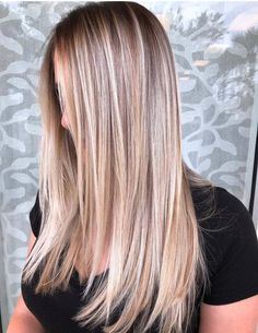 Latest shades of butter cream blonde balayage hair colors for long hair looks to . you to visit here and find our best hair Hair Color Highlights, Hair Color Balayage, Blonde Color, Hair Junkie, Cute Hair Colors, Trendy Hairstyles, Heart Hairstyles, Full Hair, Hair Looks