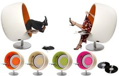 Futuristic Sofa-Chair with Audio Speaker by SONIC_2