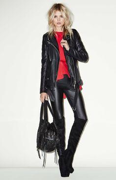 vegan leather leggings.