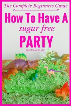 This is the complete beginners guide to how to have a sugar free birthday party. Come and learn the best tips and amazing recipes from the best sugar free websites. | ditchthecarbs.com