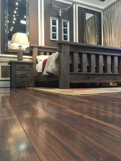 Each morning you awake within the embrace of the weathered grey-finished solid pine wood will give birth to an appreciation for this rustic style and American Barn inspired design! Trust this Made in America bed to offer you a stylish and quality place to rest your head for years to come! | Houston TX | Gallery Furniture |