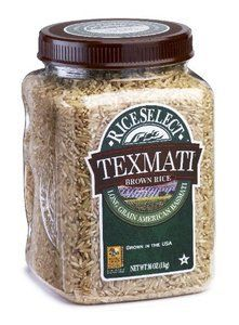 Rice Select Texmati Brown Rice, 32oz Jars (Pack of 4)