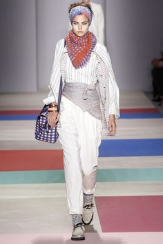 grunge at Marc by Marc Jacobs #ss2013trends #patchwork #LFW #fashion #trends