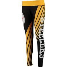 Concepts Sport Pittsburgh Steelers Women's Black/Gold Dynamic Sublimated Leggings