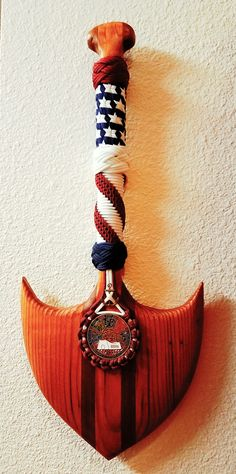 Paracord paddle by C. Wulf. -WULFWRAPS-