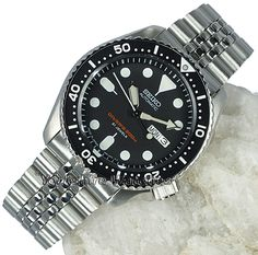 Seiko 200mt Pro Divers With Stainless Steel Bracelet SKX007J2