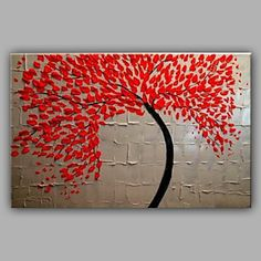【今だけ 送料無料】現代アートなモダン アートパネル 抽象画1枚で1セット 植物 模様 レッド 立体 油絵【納期】お取り寄せ2~3週間前後で発送予定
