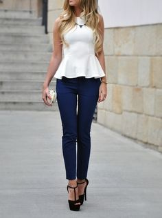 I absolutely LOVE peplum tops. A great way to flatter a wide variety of body shapes #summerstyle #tops