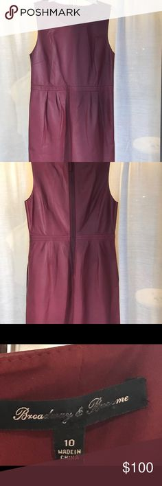 Madewell 100% leather dress Never worn! Gorgeous wine colored leather dress. Runs slightly small. Fully lined. Madewell Dresses Mini