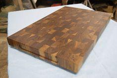 Black Walnut End Grain Cutting Board Butcher Block With Rubber Non Slip Feet