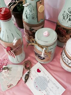 Up cycled jars just for fun