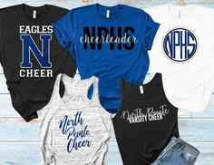 Cheer Team Shirts / Team Shirts Bundle / Customized For Your Team / You Pick Your Team Colors / Cheer Camp Clothes / Custom Apparel Package Cheer Coach Shirts, Dance Team Shirts, Cheer Coaches, Game Day Shirts, Camp Shirts, Vinyl Shirts, School Shirts, Cheer Practice Outfits, Cheer Outfits