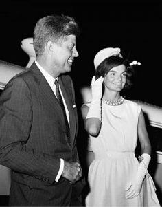 Senator John F. Kennedy of Massachusetts and his wife, Jacqueline, at New York's…