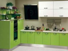 Green Kitchen Cabinets Painting Ideas