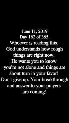 Your breakthrough and answers are coming! Prayer Quotes, Bible Verses Quotes, Spiritual Quotes, True Quotes, Quotes About God, Quotes To Live By, Positive Affirmations, Positive Quotes, Faith Prayer