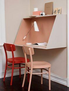 Faça você mesmo uma escrivaninha de MDF perfeita para espaços pequenos!