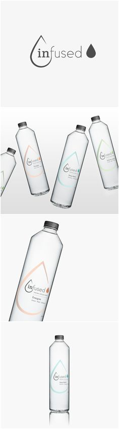 Agency Concept for Modern and Minimalist for Modern and Minimalist Twist on Bottled Water Design Agency: Alison Congdon Brand / Project Name: Infused Category: #Beverages #Water World Brand & Packaging Design Society