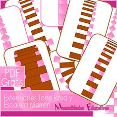 Extensiones Torre Rosa y Escalera Marrón Montessori - IMPRMIBLE GRATIS  Pink Tower and Brown Stair Montessori FREE PRINTABLE Extensions